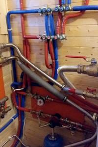 Обвязка котла отопления гофрированной трубой