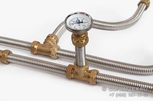 Гофрированная труба из нержавеющей стали для горячей и холодной воды